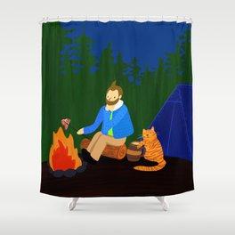 adventures of cat boy Shower Curtain