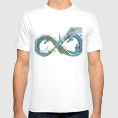 Water Dragon Mens Fitted Tee White MEDIUM