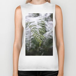 Fern Forest Winter Pacific Northwest Snow II - Nature Photography Biker Tank