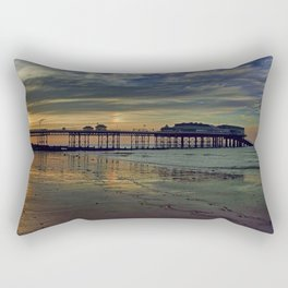 Cromer Pier at sunset Rectangular Pillow