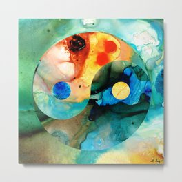 Earth Balance - Yin And Yang Art Metal Print