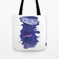 puppycat Tote Bags featuring Bee and Puppycat - Dream by doodlecups