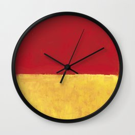 Rothko Red Yellow Untitled Wall Clock