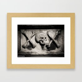 Gothic Skull and Bones Framed Art Print