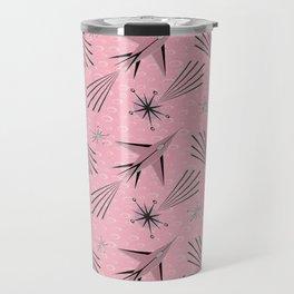 Space Planes & Shooting Stars - Pink Travel Mug