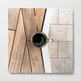 Artistic Cold Brew Shot 2 // Wood Steel & Stone Caffeine Coffee Shop Barista Wall Hanging Photograph Metal Print