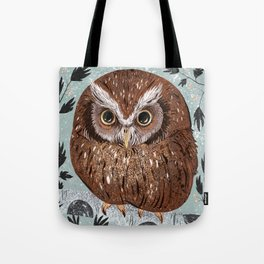 Painted Owl Tote Bag