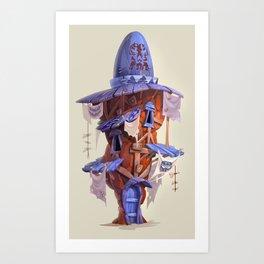 Rock House Art Print