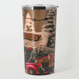 Tiny Christmas Town (Color) Travel Mug