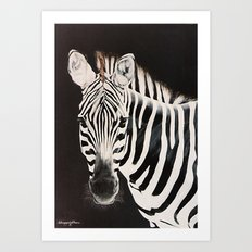 Taylor's Zebra   Painting Art Print