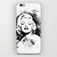 monroe iPhone & iPod Skins featuring Monroe by Ron Jones The Artist