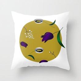 Retro fall Throw Pillow