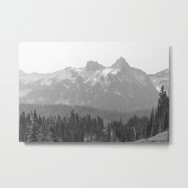 Go Beyond - Black and White Wilderness Nature Photography Metal Print