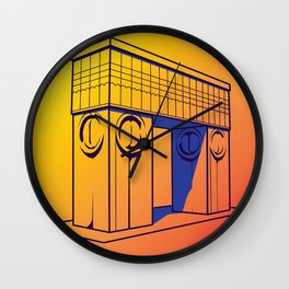 The gate of kiss Wall Clock