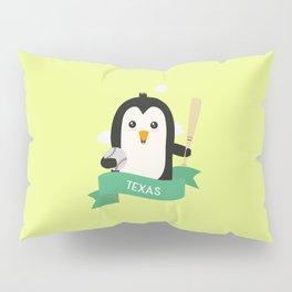 Baseball Penguin from TEXAS  T-Shirt for all Ages Pillow Sham