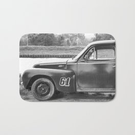 Classic Car Photography Black and White Amsterdam Under The Rain Europe Bath Mat