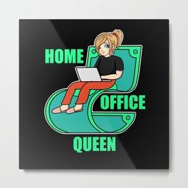 Home Office Queen Metal Print