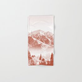 tundra rust tone washed out effect aesthetic landscape art photography Hand & Bath Towel