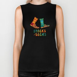 Stocks And Socks with Groovy Lettering Biker Tank