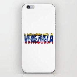 Venezuela Word With Flag Texture iPhone Skin