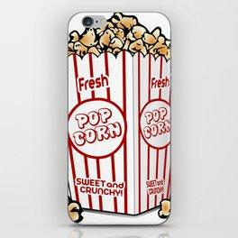 Cartoon Sweet Popcorn iPhone Skin