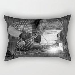 Welder working Rectangular Pillow