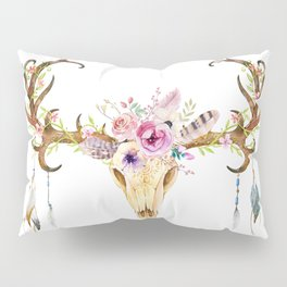 Deer Skull Pillow Sham