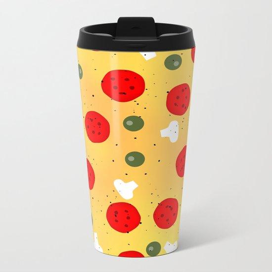 Cool and fun vector pizza Metal Travel Mug