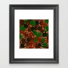Evidence v1: Camo Framed Art Print