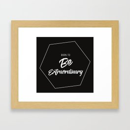 Inspiring Gift Ideas for Entrepreneurs #1- White on Black Framed Art Print