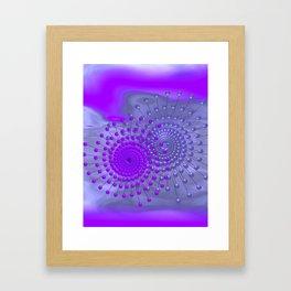 violet and blue spirals Gerahmter Kunstdruck