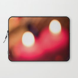 Two Candles Abstract Laptop Sleeve