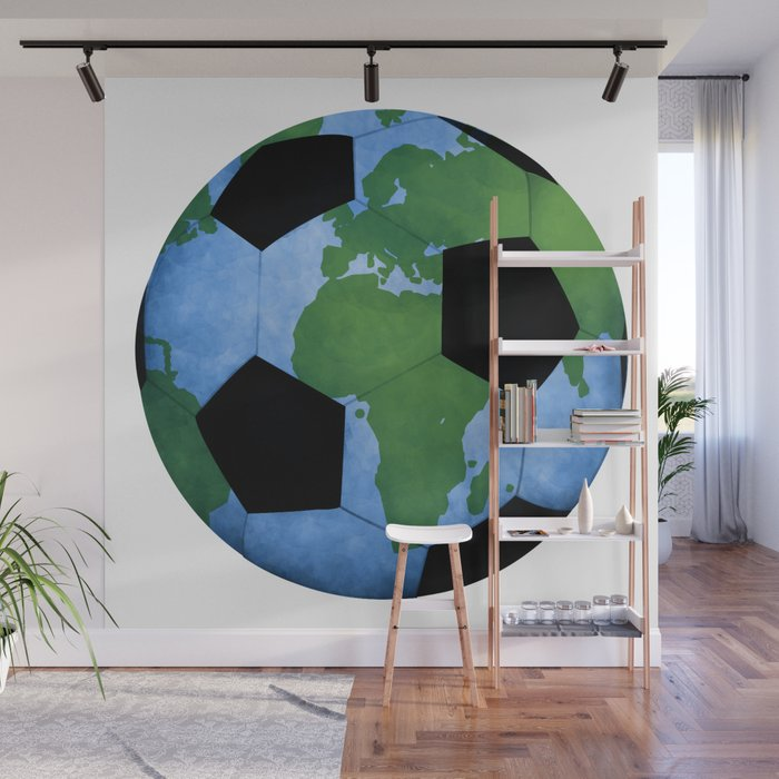 The World Of Soccer Wall Mural by avenger Society6