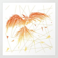 phoenix Art Prints featuring Phoenix by ARCHIGRAF