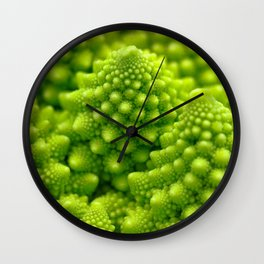 Macro Romanesco Broccoli Wall Clock