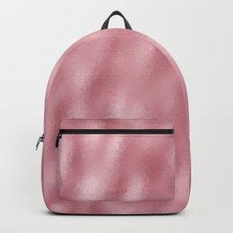 Mottled Blush Foil Backpack