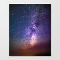 milky way Canvas Prints featuring Milky Way by Lotus Effects