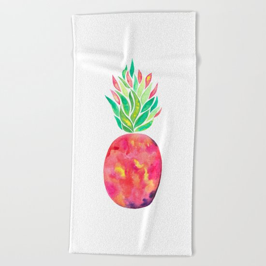 Pineapple Flare Beach Towel