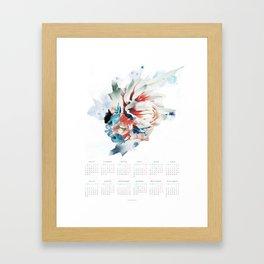 CALENDARIO 2018 - POSTER FLORAL EN CASTELLANO Framed Art Print
