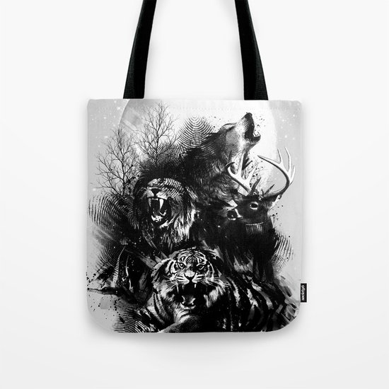 Call of the Wild (GRAY) Tote Bag