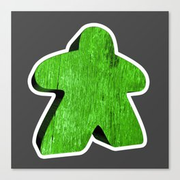 Giant Green Meeple Canvas Print