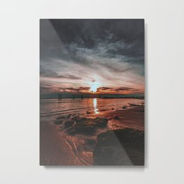 Fire Beach Metal Print