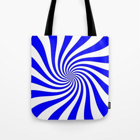 Swirl (Blue/White) Tote Bag