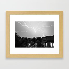 Lightning over Aigburth Framed Art Print