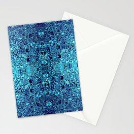 Deep blue glass mosaic Stationery Cards