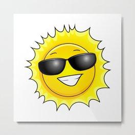 sunglasses on Metal Print