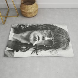 Reproduction Keith#Richards Poster, Black & White, The Rolling Stones Rug
