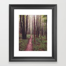 The Future Awaits, The Path Lies Before You Framed Art Print