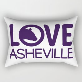 LOVE ASHEVILLE - AVL 13 PURPLE Rectangular Pillow