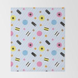 Kawaii Candy Liquorice Allsorts Throw Blanket